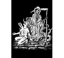 Grim Reaper Taking Soul Photographic Print