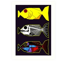 The Hitchhikers Guide to the Galaxy - 3 Babel Fish Art Print