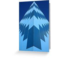 Symmetry in Blue Greeting Card