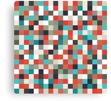 Pixel Art Pattern Canvas Print
