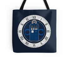 TARDIS and Clock - Doctor Who Tote Bag