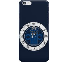 TARDIS and Clock - Doctor Who iPhone Case/Skin