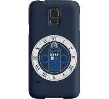 TARDIS and Clock - Doctor Who Samsung Galaxy Case/Skin