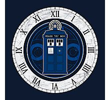 TARDIS and Clock - Doctor Who Photographic Print