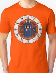 TARDIS and Clock - Doctor Who Unisex T-Shirt