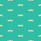 Retro Moustache Pattern by Mike Taylor
