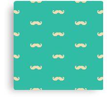 Retro Moustache Pattern Canvas Print