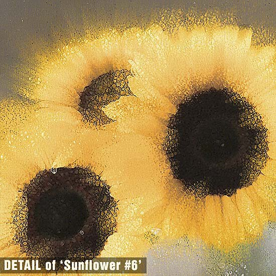 DETAIL of Sunflowers #6 by Michael Critchley