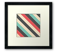 Retro Striped Pattern Framed Print