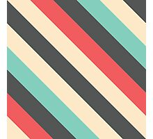Retro Striped Pattern Photographic Print