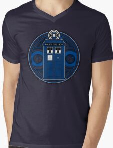 TARDIS and Timelord Seal - Doctor Who Mens V-Neck T-Shirt