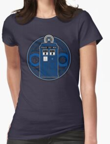 TARDIS and Timelord Seal - Doctor Who Womens Fitted T-Shirt