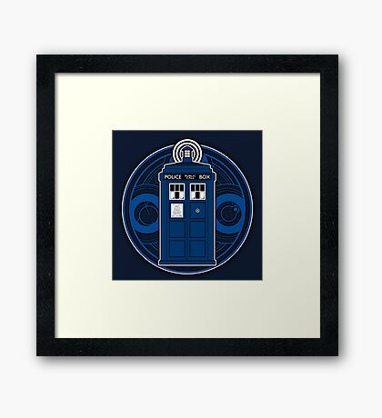 TARDIS and Timelord Seal - Doctor Who Framed Print