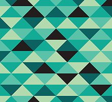 Green Pixel Art Pattern by Mike Taylor