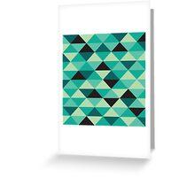 Green Pixel Art Pattern Greeting Card