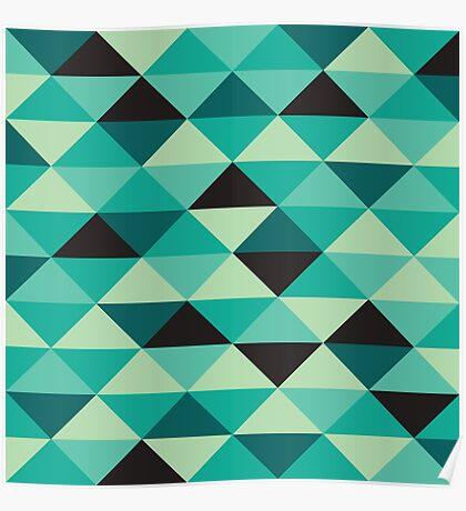 Green Pixel Art Pattern Poster