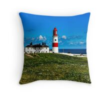 Souter Lighthouse Throw Pillow