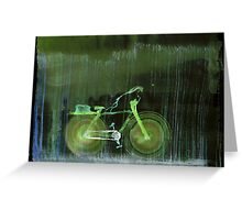 WDV - 391 - Self Aware Bicycle Out for an Afternoon's Package Delivery in the Rain Greeting Card