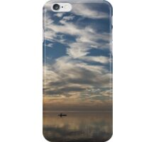 Paddling on the Early Morning Mirror iPhone Case/Skin