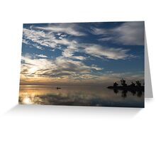Paddling on the Early Morning Mirror Greeting Card