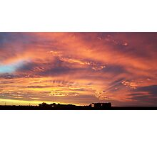 Sunset near Lake Sunday, Southern Yorke Peninsula, South Australia Photographic Print