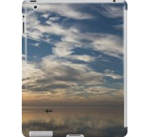 Paddling on the Early Morning Mirror iPad Case/Skin