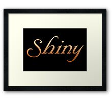 Shiny - Firefly and Serenity Framed Print