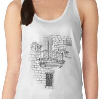 Italy- A window below the balcony in Assisi Women's Tank Top