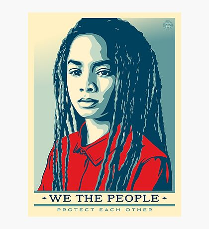 We the people protect each other Photographic Print