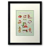 How to wrap your cat for Christmas Framed Print