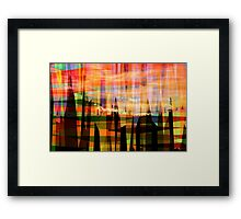 Donuts Abstract 16 Framed Print
