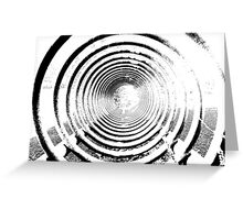 abstract spiral Greeting Card