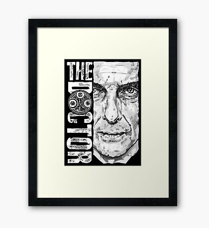 New Beginnings Number 12 - Doctor Who - Peter Capaldi Framed Print