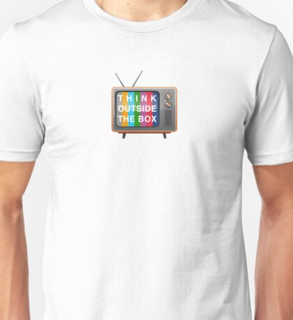 Think Outside the Box Retro 1950's, 1960's Mid Century Modern Funny Off Grid Graphic Tee Shirt Unisex T-Shirt