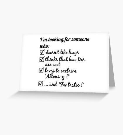 Looking for the Doctor Greeting Card