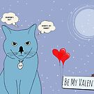 Valentine cat by puppaluppa