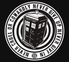 Never Cruel Or Cowardly - Doctor Who - Black TARDIS by createdezign