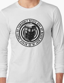 Never Cruel Or Cowardly - Doctor Who - Black TARDIS Long Sleeve T-Shirt
