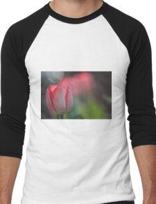 Pink tulip near sunset Men's Baseball ¾ T-Shirt