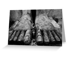 Buddha's Feet Greeting Card