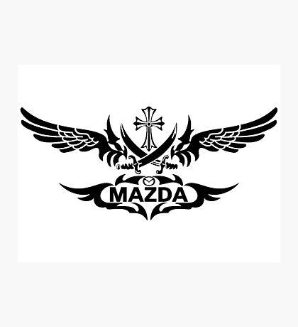 MAZDA grunge Photographic Print