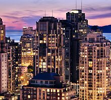 English Bay View from Yaletown. by Amyn Nasser