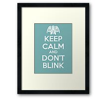 KEEP CALM 1 Framed Print