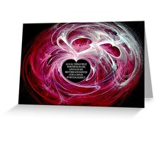 Love Is Respect (Horizontal Card) Greeting Card