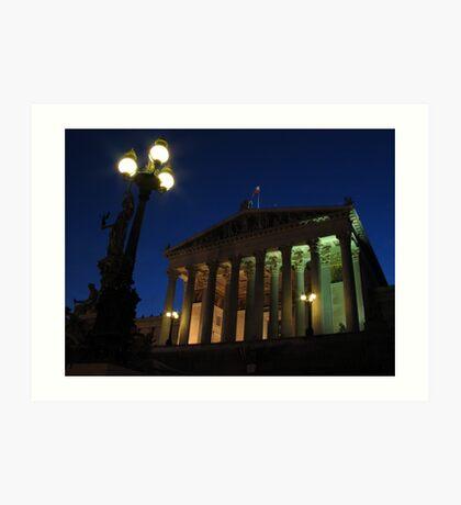 Vienna by night Art Print