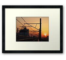 Sunset in China Framed Print