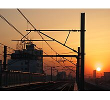 Sunset in China Photographic Print