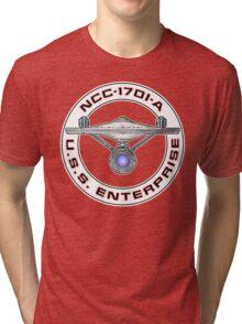 USS Enterprise Logo - Star Trek - NCC-1701-A (Movie Colour) Tri-blend T-Shirt