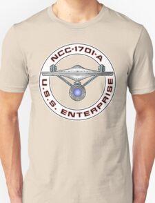 USS Enterprise Logo - Star Trek - NCC-1701-A (Movie Colour) Unisex T-Shirt