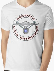 USS Enterprise Logo - Star Trek - NCC-1701-A (Movie Colour) Mens V-Neck T-Shirt